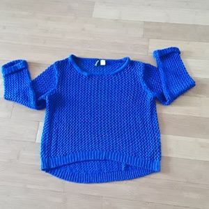 Divided  brand new royal blue sweater